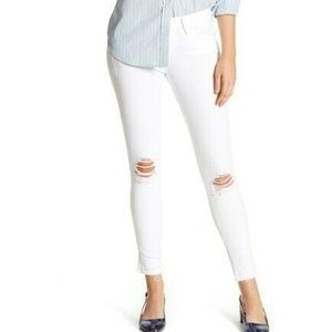 Frame Denim Le Skinny Jeanne Raw Hem Cropped Jeans